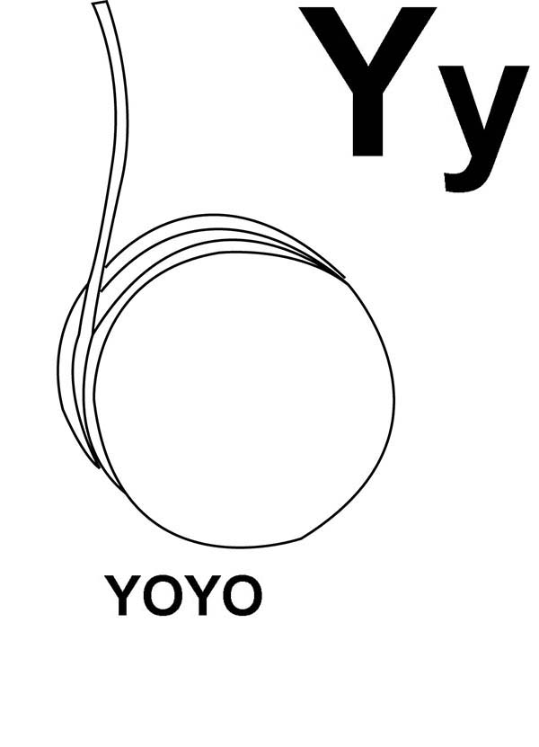 Letter Y, : Learn Letter Y Coloring Page