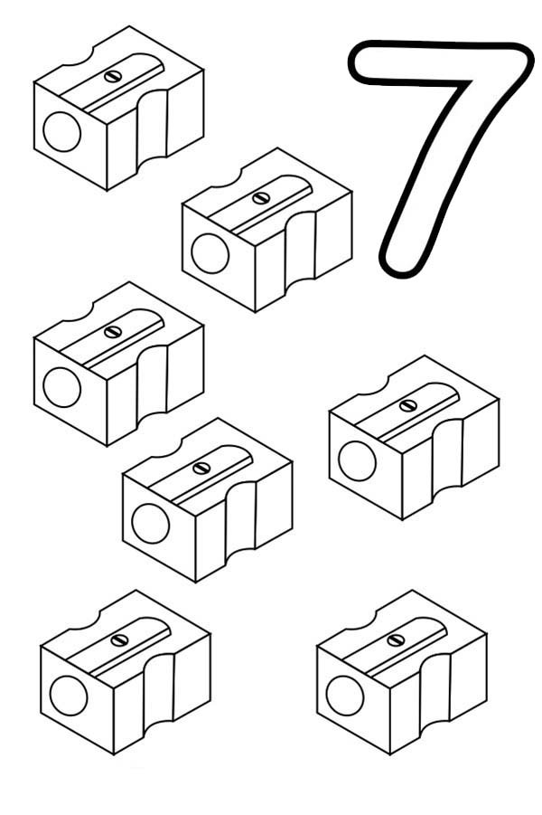 Number 7, : Learn Number 7 with Seven Sharpeners