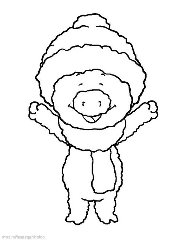 Piggly Wiggly, : Little Piggly Wiggly is Happy Coloring Pages