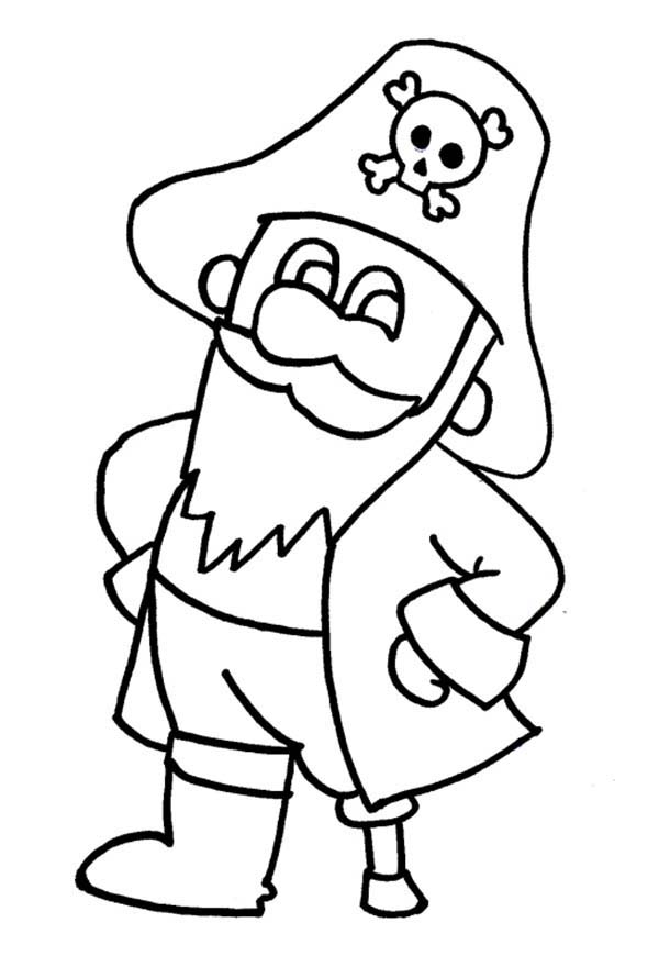 Pirates, : Little Pirate Coloring Pages