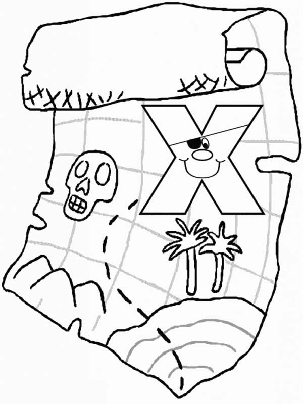 Letter X, : Lower Case Letter X Coloring Page