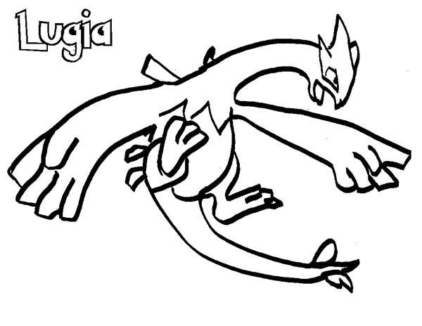 Pokemon, : Lugia Pokemon is Flying Coloring Pages