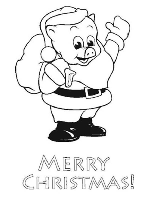 Piggly Wiggly, : Merry Christmas Piggly Wiggly Coloring Pages