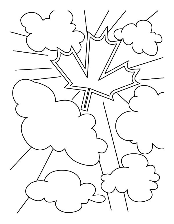 Canada Day, : National Symbol for Canada Day Coloring Pages