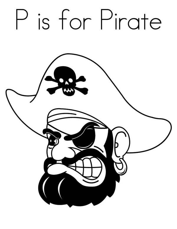 Pirates, : P is for Pirate Coloring Pages