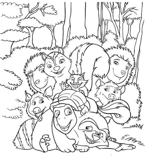 Over the Hedge, : Picture of Over the Hedge Coloring Pages