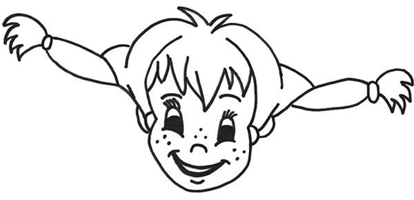 Pippi Longstocking, : Picture of Pippi Longstocking Coloring Pages