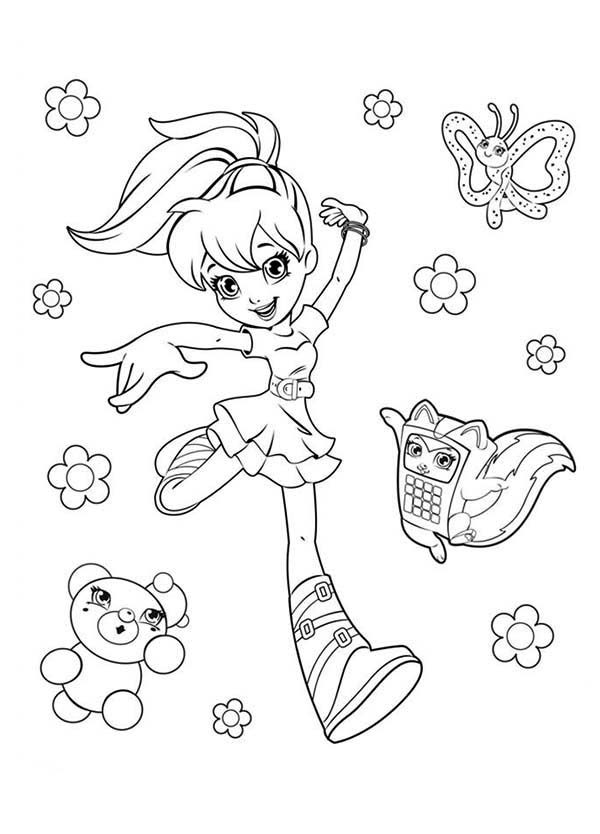 Polly Pocket, : Picture of Polly Pocket Coloring Pages