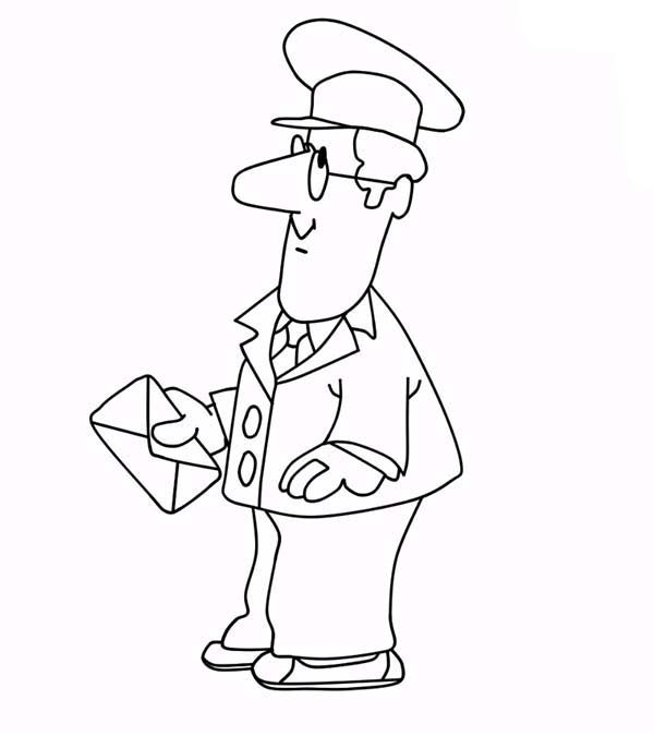 Postman Pat, : Picture of Postman Pat Coloring Pages