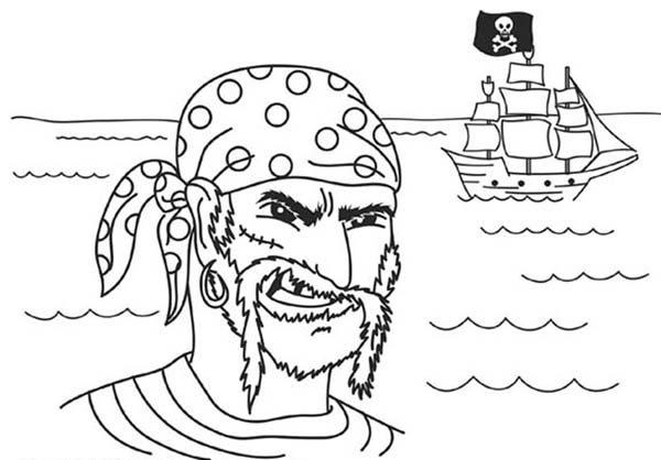 Piet Pirate, : Piet Pirate Captain Coloring Pages