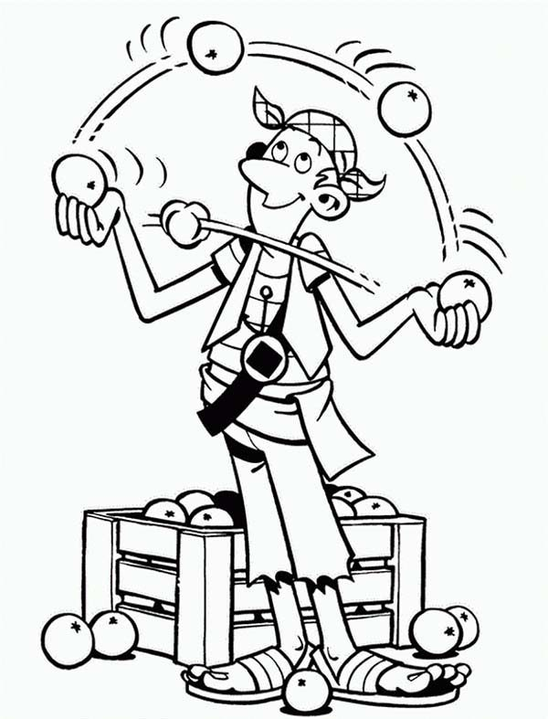 Piet Pirate, : Piet Pirate Juggler Steven Stil Coloring Pages
