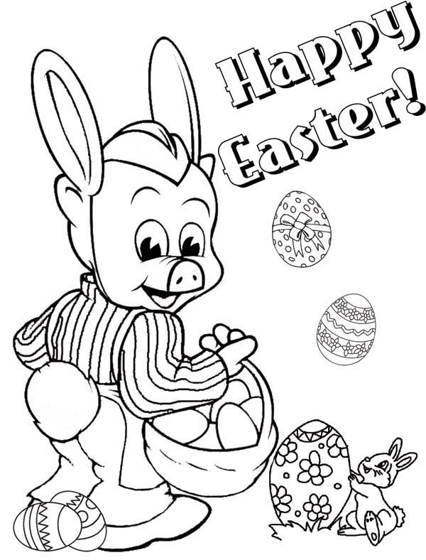 Piggly Wiggly, : Piggly Wiggly Happy Easter Coloring Pages