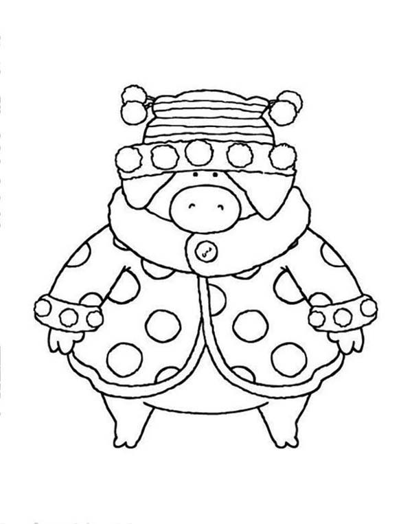 Piggly Wiggly, : Piggly Wiggly Winter Collection Outfit Coloring Pages
