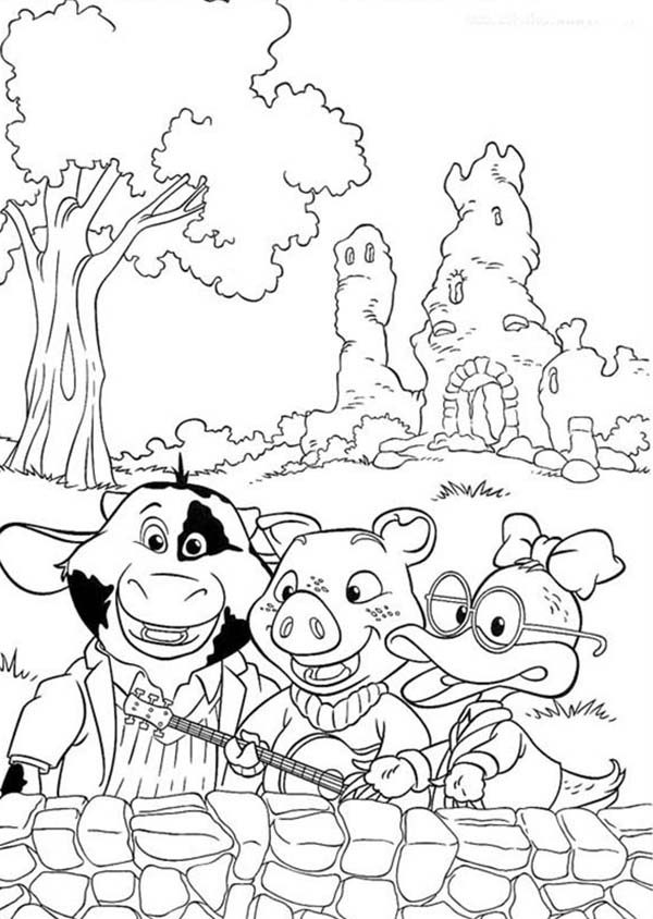 Piggly Wiggly, : Piggly Wiggly and Friends Coloring Pages
