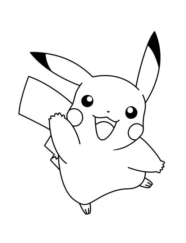 Pokemon, : Pika Pika Pokemon Coloring Pages