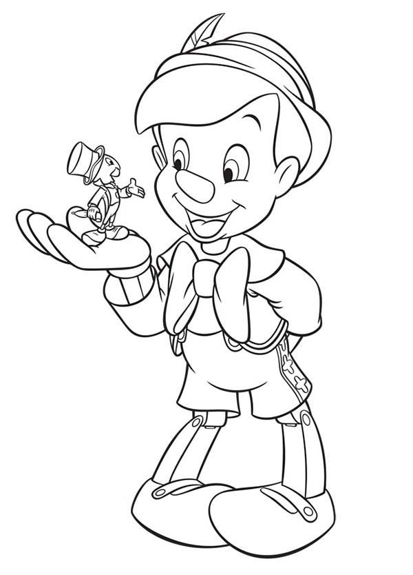 Pinocchio, : Pinocchio and His Best Friend Coloring Pages