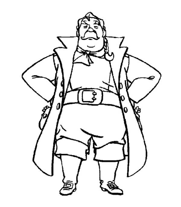Pippi Longstocking, : Pippi Longstocking Father Ephraim Coloring Pages
