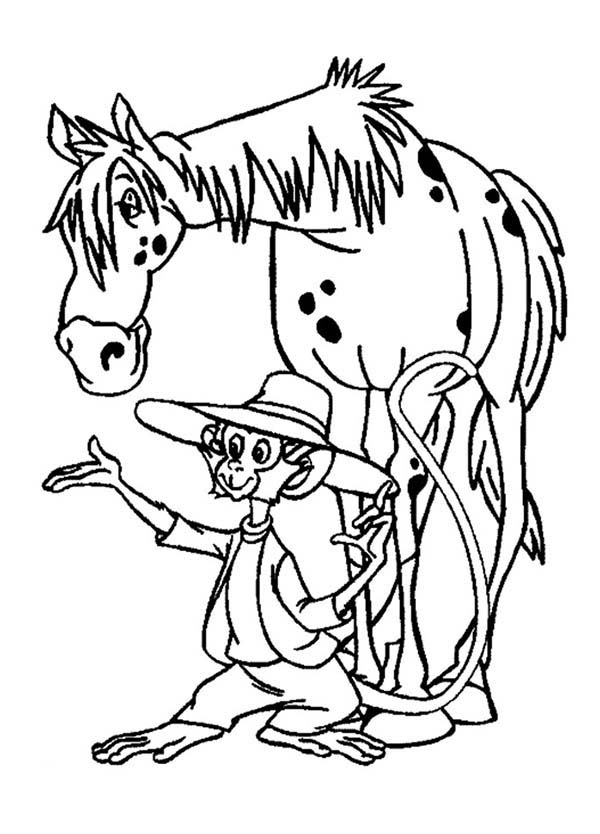 Pippi Longstocking, : Pippi Longstocking Pet Coloring Pages