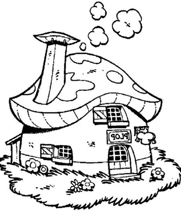 Plop the Gnome, : Plop the Gnome Beautiful House Coloring Pages
