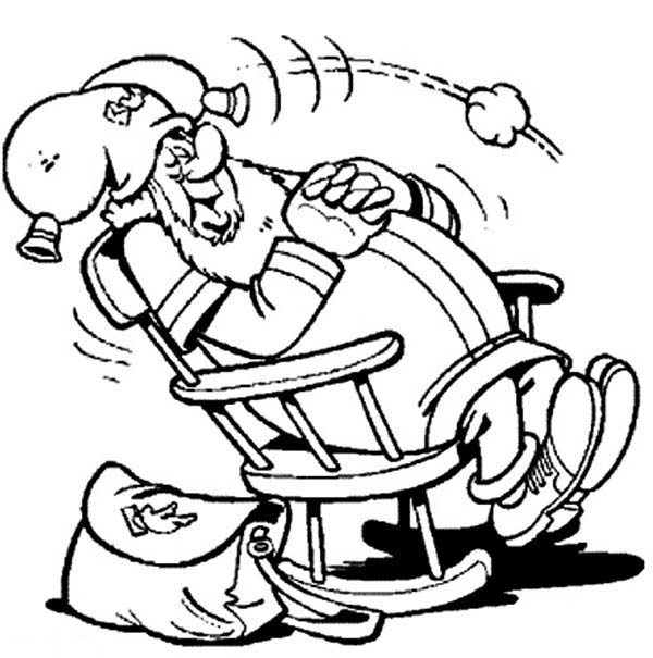Plop the Gnome, : Plop the Gnome Sleeping on Lazy Chair Coloring Pages