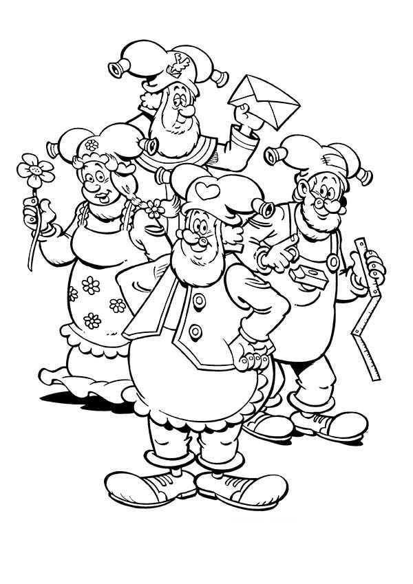 Plop the Gnome, : Plop the Gnome and Friends Coloring Pages