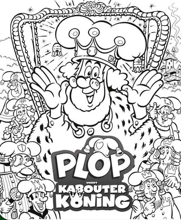 Plop the Gnome, : Plop the Gnome the Series Coloring Pages