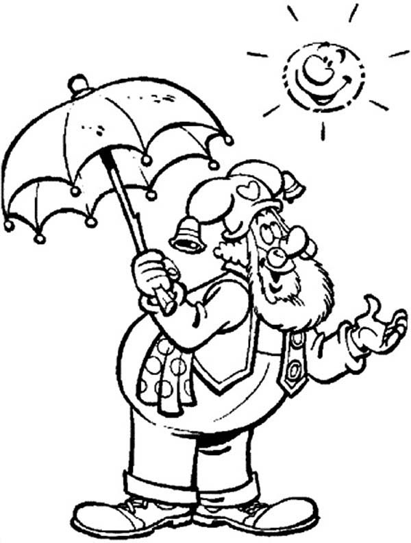 Plop the Gnome, : Plop the Gnome the Sun Shinning Bright Coloring Pages