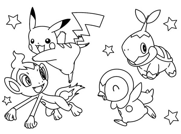 Pokemon, : Pokemon Diamond Pearl Coloring Pages