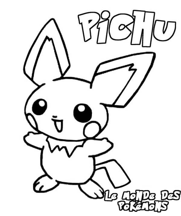 Pokemon, : Pokemon Pichu Coloring Pages