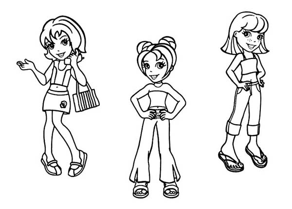 Polly Pocket, : Polly Pocket Coloring Pages for Kids