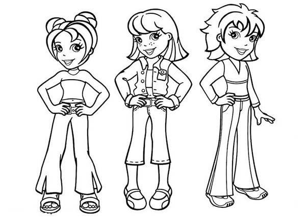 Polly Pocket, : Polly Pocket Famous Characters Coloring Pages