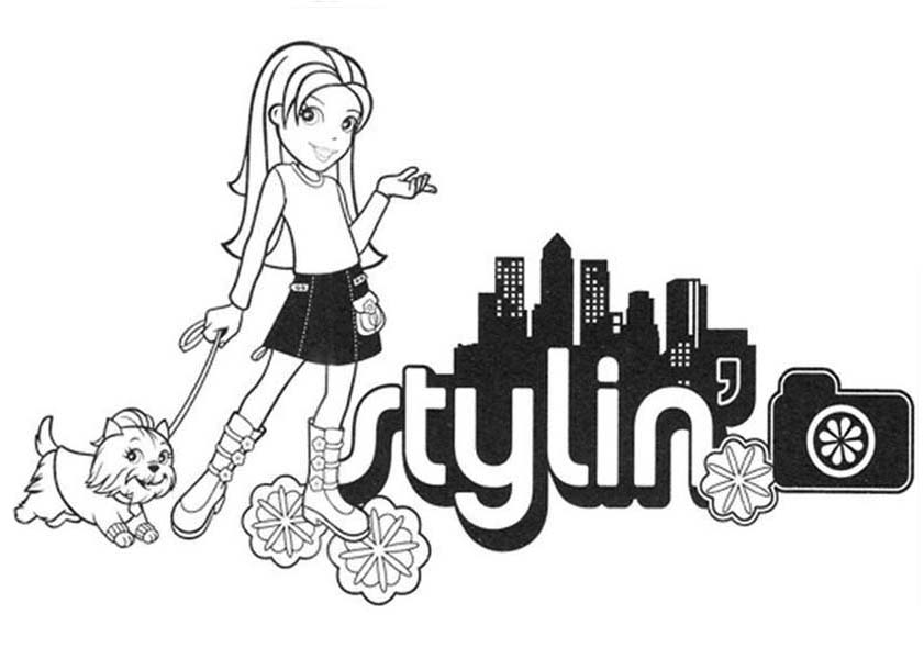 Polly Pocket, : Polly Pocket Walking with Style Coloring Pages