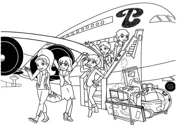 Polly Pocket, : Polly Pocket and Friends Just Landing Coloring Pages