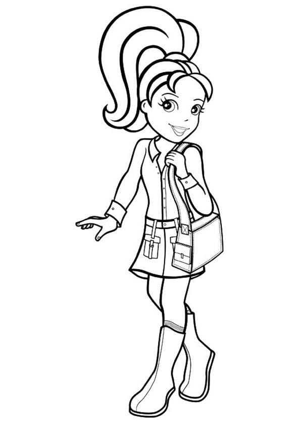 Polly Pocket, : Polly Pocket is so Beautiful Coloring Pages