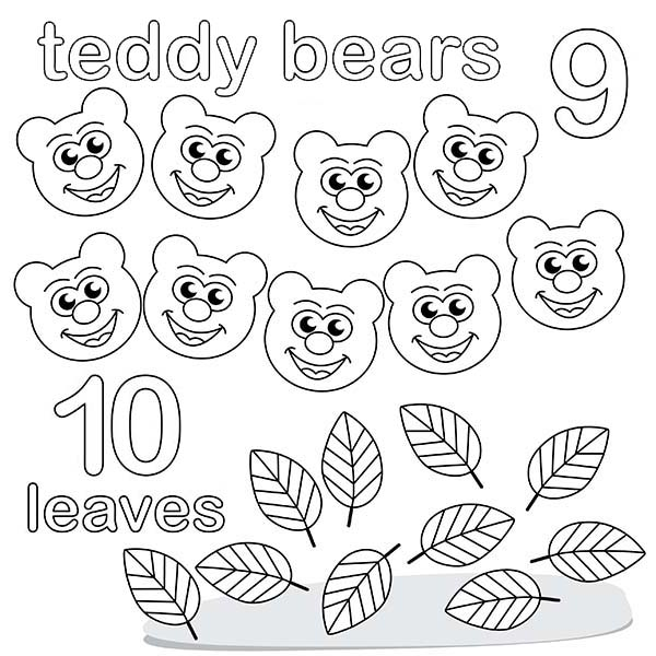 Number 10, : Preschool Learn Number 10 Coloring Page