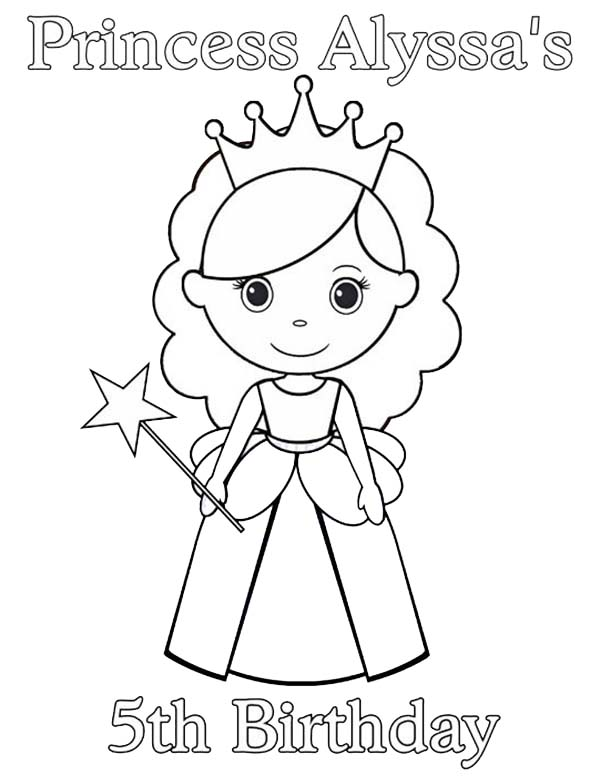 Princesses Birthday, : Princess Alyssa 5th Birthday in Princesses Birthday Coloring Pages