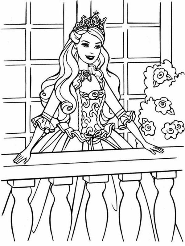 Princesses Birthday, : Princess Can't Wait to Attend Birthday Party in Princesses Birthday Coloring Pages