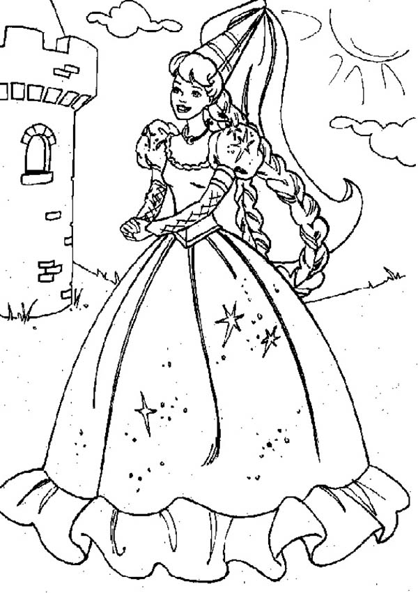 Princesses Birthday, : Princesses Birthday Party at the Castle Coloring Pages