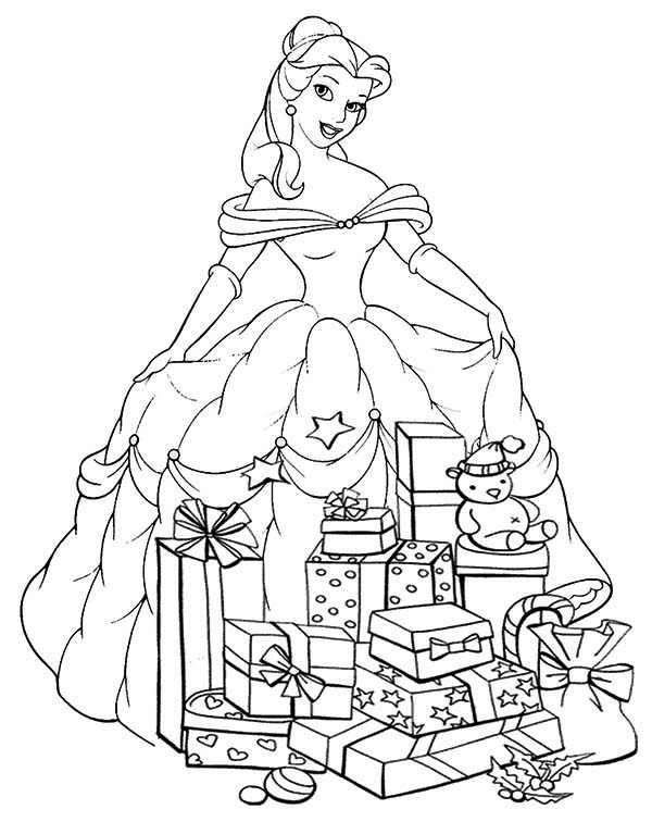 Princesses Birthday, : Princesses Birthday Presents Coloring Pages