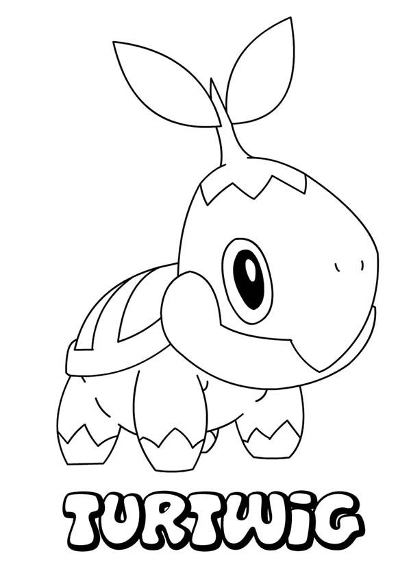 Pokemon, : Sad Turtwig Pokemon Coloring Pages