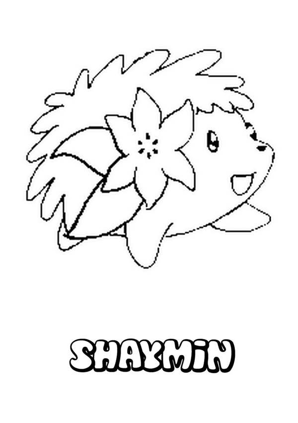Pokemon, : Shaymin Hedgehog Pokemon Coloring Pages