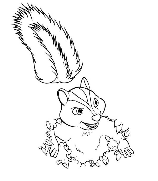Over the Hedge, : Stella from Over the Hedge Coloring Pages