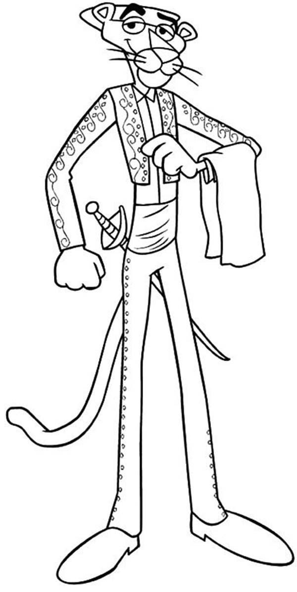 Pink Panther, : The Pink Panther is a Toreador Coloring Pages