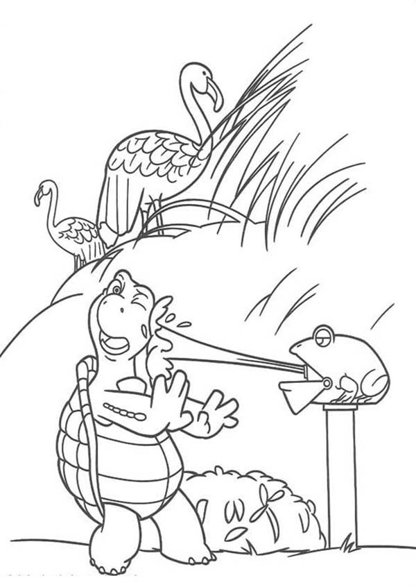 Over the Hedge, : Verne Got Squirt by a Frog in Over the Hedge Coloring Pages