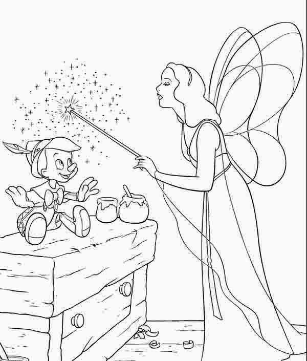 Pinocchio, : When Magic Happen Pinocchio is Alive Coloring Pages