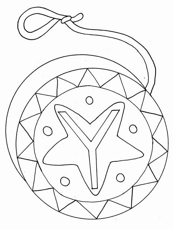 Letter Y, : Yo Yo Coloring Page for Letter Y