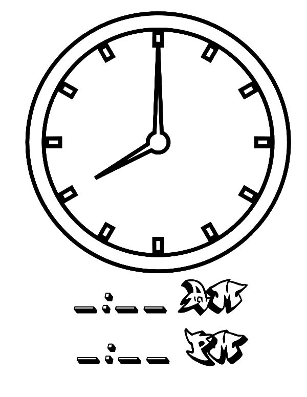Analog Clock, : 08 Clock on Analog Clock Coloring Pages