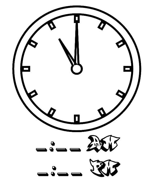 Analog Clock, : 11 Clock on Analog Clock Coloring Pages