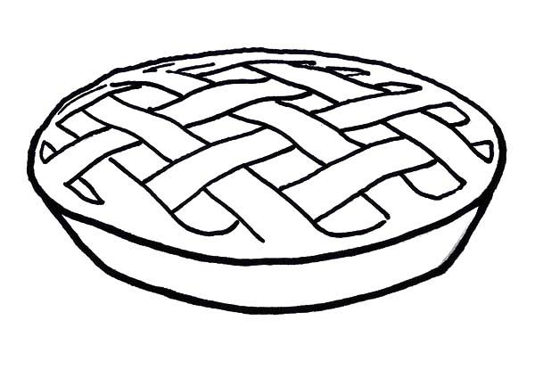 Apple Pie, : A Delicious Apple Pie Coloring Pages