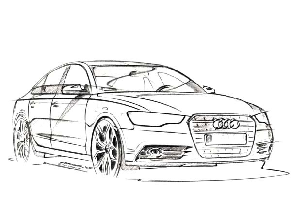 Audi Cars, : A6 Audi Cars Coloring Pages